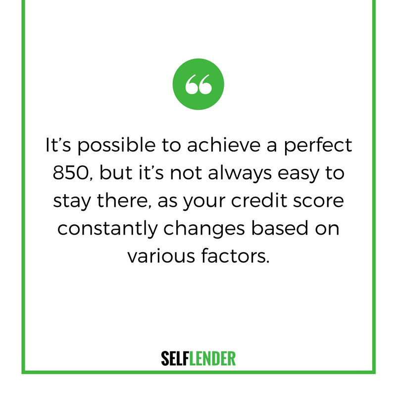 It is not easy to stay at 850, as credit scores constantly change